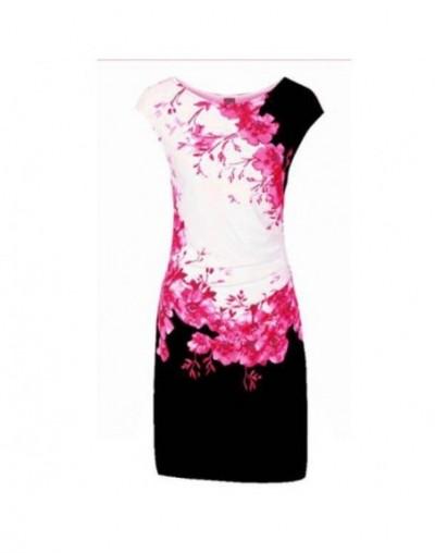 Work Office Ladies Summer Dress 2019 New Fashion Floral Print Sleeveless Slim Bodycon Pencil Dress Women Casual Dress Vestid...