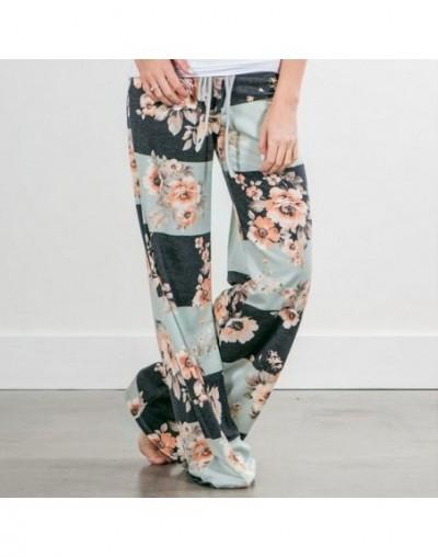 New Spring 2019 Causal Women Pants Printed Drawstring High Waist Straight Women Loose Pants Plus Size Ladies Long Trousers -...