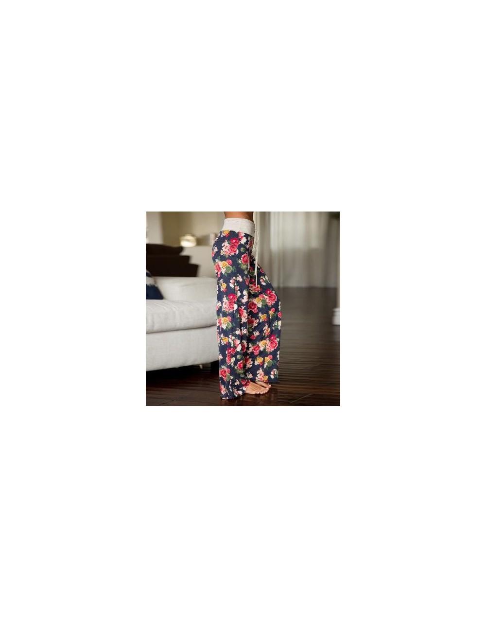 Spring autumn Women Long Pants Loose Floral Print Drawstring Lace Camouflage stripe Wave point Sweatpants Female Plus Size p...