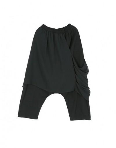 2019 New Spring Summer High Elastic Waist Loose Irregular Personality Spliced Chiffon Pants Women Trousers Fashion 1C062 - b...