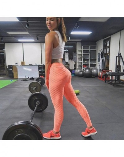 Women Push Up Leggings High Waist Classic Trousers Female Workout Leggings Fitness Clothing Solid Breathable - Orange - 4W39...