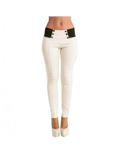 Leggings Fitness Feminina Women Fashion Pencil Pants High Waist Solid With Pockets Buttons Legins Workout Push Up Leggins Fe...