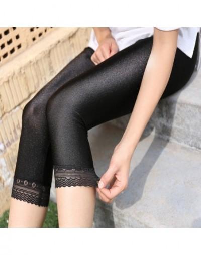 Hot Summer autumn Fashion leggings Women's sunlight shiny capris Leggings Mid-Waist Slim Elastic shinny Leggings lage plus s...