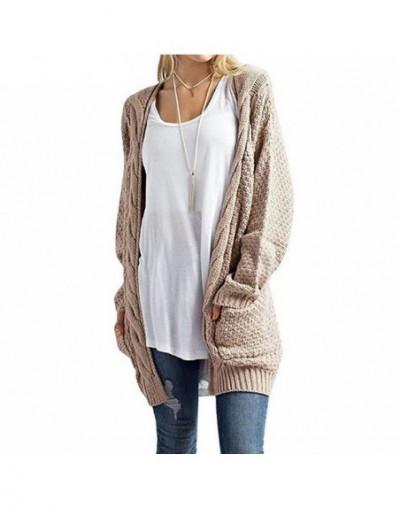 Long Cardigan Women Knitted Sweater Cardigans Long Sleeve Autumn Winter Womens Sweaters - Khaki - 4L3985576955-7