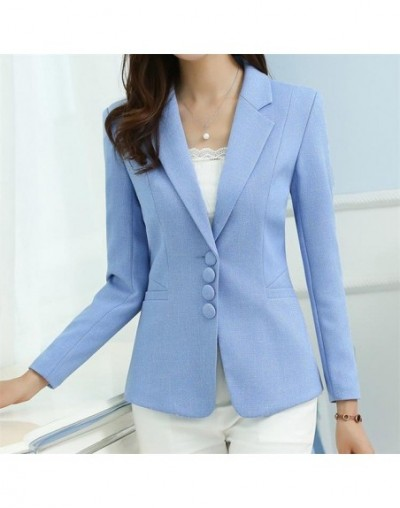 New two-tone fabric Slim long-sleeved temperament large size S-6XL wild small suit women's jacket casual wild Blazers - Ligh...