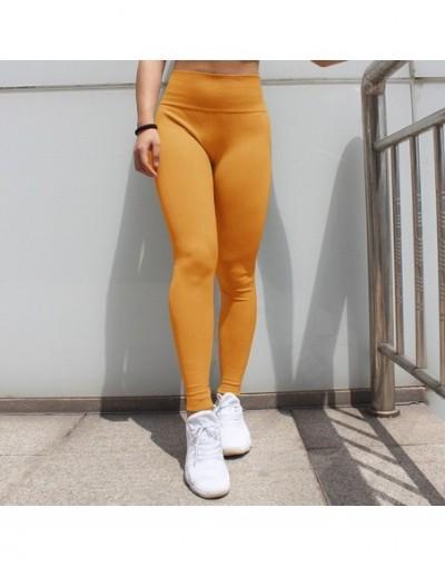 Solid High Waist Seamless Leggings Women Elastic Leggings Sweatpants Female Fitness Clothing Push Up Workout Leggings - Yell...