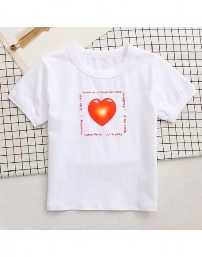 Streetwear Harajuku Sunflower Happiness Print Cropped Women T-shirt Casual Sexy Crop Top Slim tshirt drop shipping - P4 Hear...