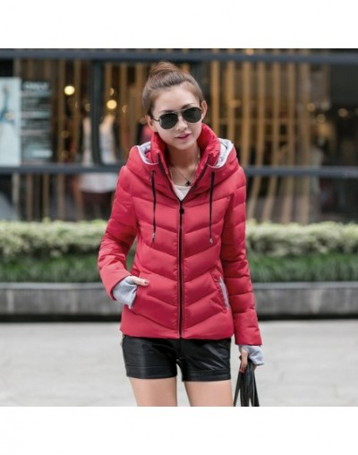 XXL New Fashion Autumn Winter Hin Thin Wadded Jacket Outerwear Clothes Cotton Coat Women Loose Thicken Female Coat 61721 - 6...