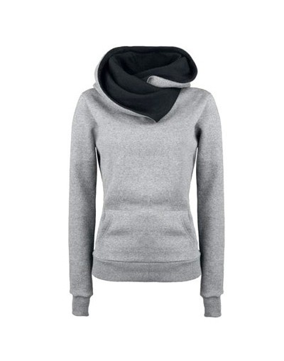 Plus Size Hoodies Women Autumn Winter Harajuku Hoodies Sweatshirt Contrast Color Pockets Oversize Pullover Sweatshirt Tops N...