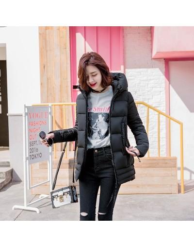 fashion parka women M-2XL plus size Black brown light purple jacket 19 winter new long sleeve hooded loose warmth clothing J...