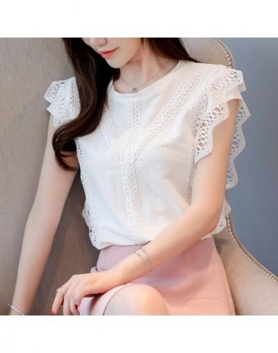 women's summer blouses blusas mujer de moda 2019 sleeveless white blouse chiffon blouse women womens tops and blouses 4201 5...