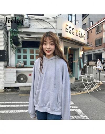 7 Solid Color Hooded Thin New Kpop Hoodie Women Chic Harajuku Sweatshirt Basic Black Pink Loose Streetwear Sudadera Mujer - ...