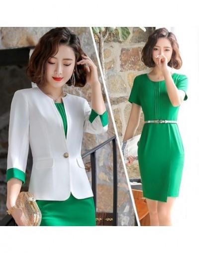 New Style Formal office wear for women suits With Dress Elegant garnitur damski Business blazer dress set Plus Size 4XL - gr...