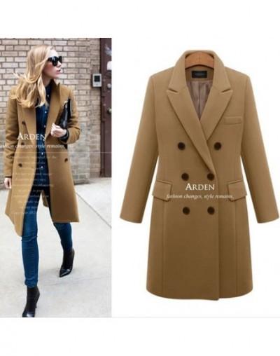 Autumn Winter Suit Blazer Women 2018 Formal Wool Blends Jacket Coat Work Office Lady Long Sleeve suits &blazer Plus Size 4XL...