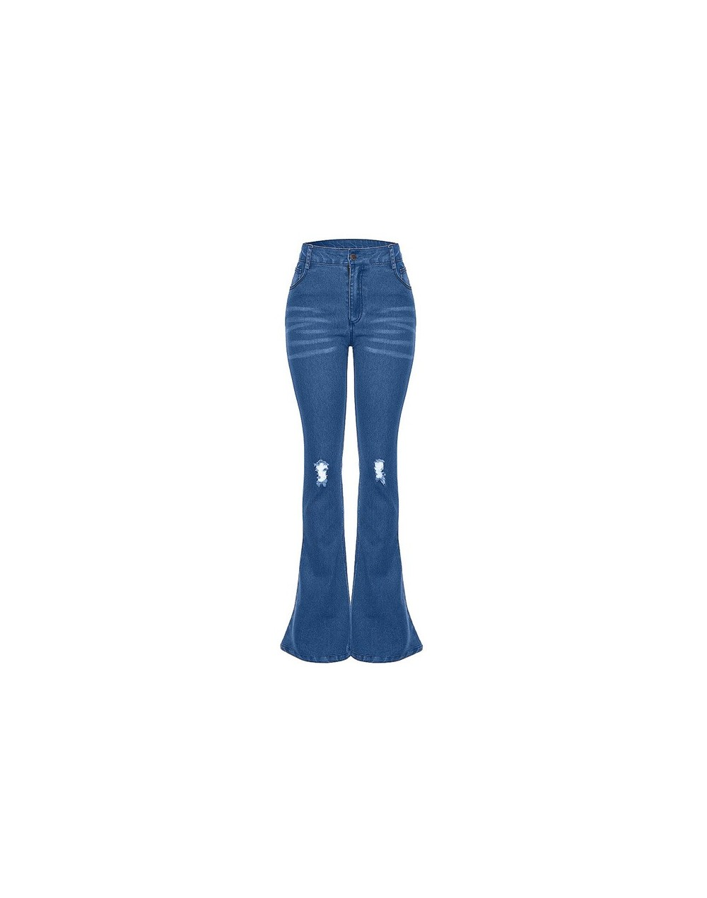 Fashion Women Denim Flare Pants Women Retro Ripped Jeans Wide Leg Trousers Lady Casual Bell-Bottoms sexy Flare Pant Female m...