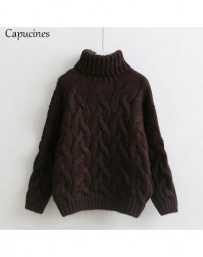 Women's Autumn Winter Turtleneck Sweaters Pullovers Twist Casual loose Warm Thick Knit Sweater Female Korean Pull Jumper - B...