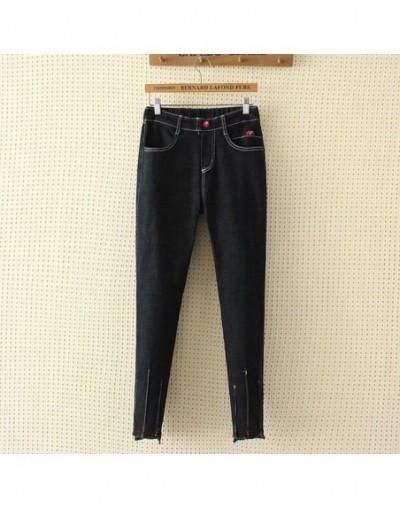 Pleated Casual Skinny Jeans Women Denim Trousers Plus Size XXXL 4XL Stretched Slim Jeans Denim Pencil Pants KKFY2981 - Black...