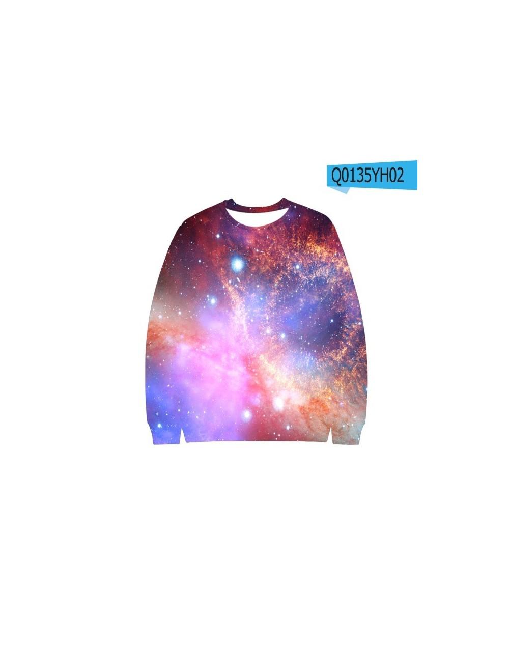 3D Galaxy Starry Sky Autumn/winter Sweatshirts New Harajuku Jumper Unisex Outwear Cool Young Casual Sweatshirts - Q0135 - 4L...