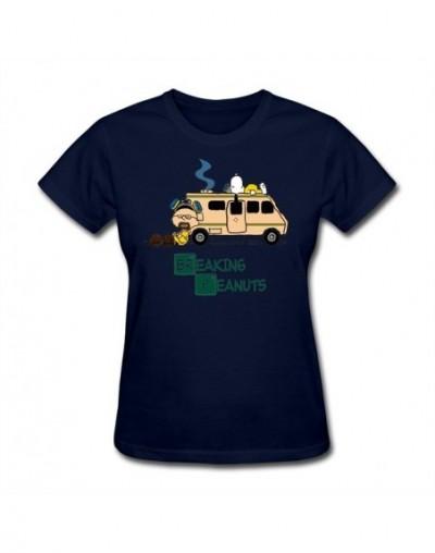 Mashup of Breaking Bad and Peanuts series Woman Hot t shirt Christian Female Gift tshirts Short-sleeve Tee Tops Website - Na...