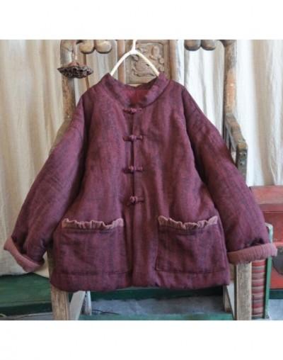 Women Parkas Winter Autumn Cotton 2018 Linen Original Black Pockets Thick Cotton-padded Long Sleeve Parkas Women Coat YoYiKa...