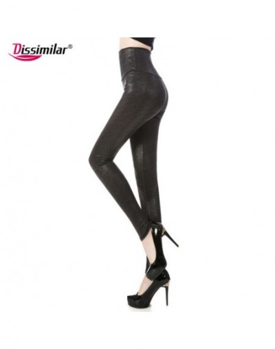 2017 women Sexy Skinny Faux Leather Snake Leggings High Waist Leopard Print Legging Long Pants XS/S/M/L/XL 4 color - snake 1...
