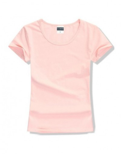 New fashion women t-shirt brand tee shirt femme Short Sleeve Cotton tshirt for women casual clothing solid color O-neck t sh...