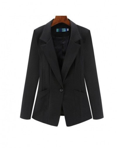 Women's Jacket 2019 Autumn Korean Slim Long Sleeve Double Pocket Small Suit Office Casual Women's Blazer - 3 - 4S4130229040-2