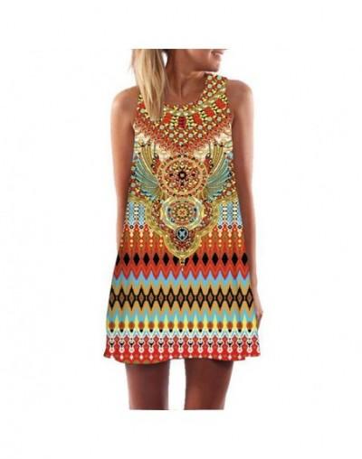 Women Summer Dress Digital Print Loose Casual Mini Dress Above Knee Lady Beach Wear Sundress Vestidos De Verano 2019 - 1 - 4...