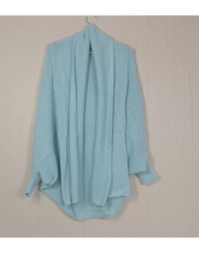 BOHO Winter cardigans for women oversize batwing sleeve sweaters long cardigan female knitted clothes khaki jackets - light ...