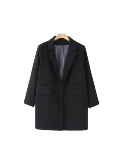 winter women full sleeves casual Blazer turn down collar ladies plus size outwears single breasted long blazer ship from U.S...