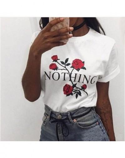 Harajuku T shirts Women Retro Prints Casual Tees Tops Short Sleeve Women's T shirt O-neck Fashion Simple Female t shirt - t ...