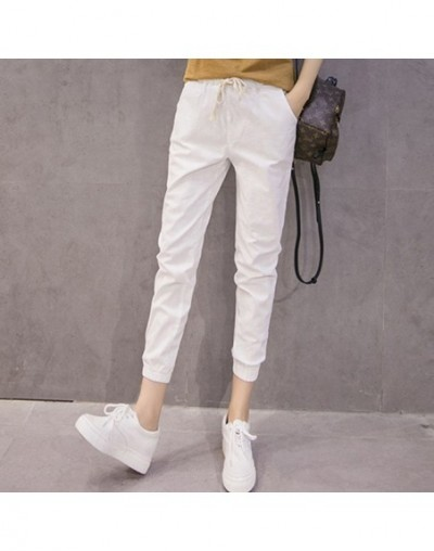 Fashion Cotton and Linen Pants Female Summer Loose Large Size Women Harem Pants Students/Girls Casual Candy Color Pants Capr...