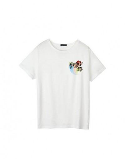 The Powerpuff Girls summer T-shirt new fashion short sleeves cute cartoon big code S-2XL casual funny ins T-shirt tops tees ...