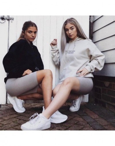 Autumn Winter 2018 New Letter print women fitness leggings short cotton shiny work out legging Black jeggings - Gray - 4U306...