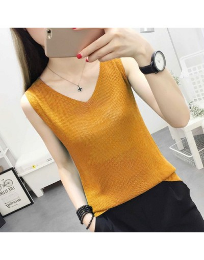 New Solid Slim Women tank Tops Summer Sleeveless Jersey Cotton Tanks Camis Tees For Woman Sexy Top White Black Multicolor Ve...