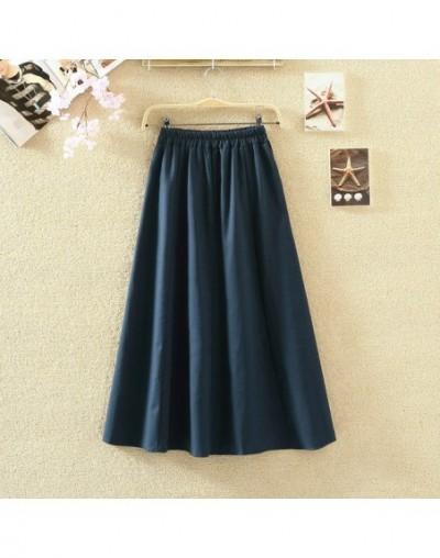 2019 Summer Women Long Skirts Vintage Cotton And Linen High Waist Women Skirts Saia Summer Skirt Womens Jupe Femme Saias Fal...