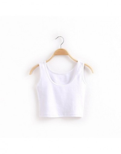 Summer Women Short Vest Shirts Breathable Elasticity Lady Fitness Clothes Solid Tank Tops XRQ88 - White - 4K3999283453-6