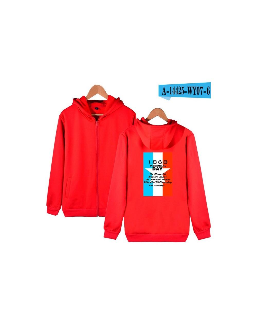 Memorial Day Hoodies Hot Sale Casual Zipper Hoodies Sweatshirts Harajuku Women and Men Clothes 2019 Popular K-pop Hooded Fas...