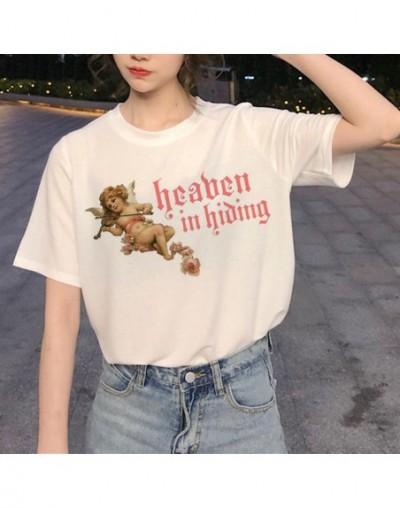 New Harajuku Angel Funny T Shirt Women Ullzang Aesthetic Kawaii T-shirt 90s Graphic Cartoon Tshirt Korean Style Top Tees Fem...