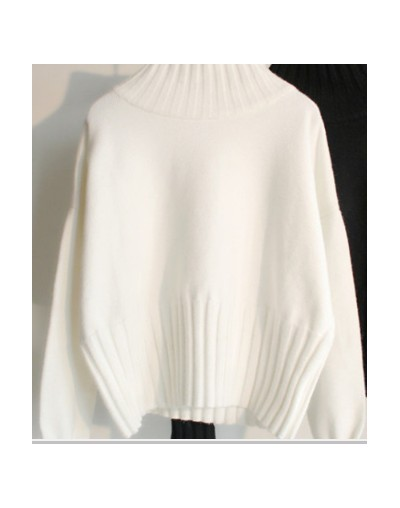 loose Turtleneck Women Sweater 2018 New Autumn Winter Black Tops Women Knitted Pullovers Long Sleeve Jumper Pull Femme Cloth...