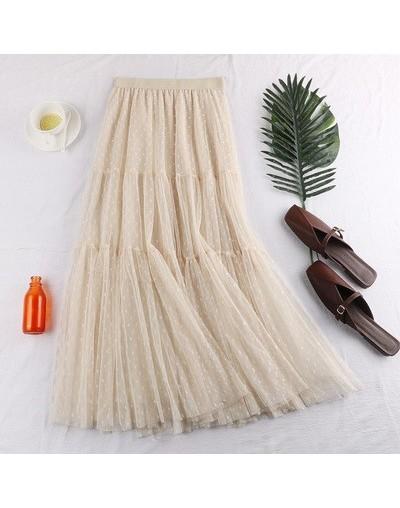 Summer 2019 New Long Pleated Skirts Womens Casual Loose Skirt High Waist Elascity Faldas Party Skirt Streetwear Jupe Femme S...