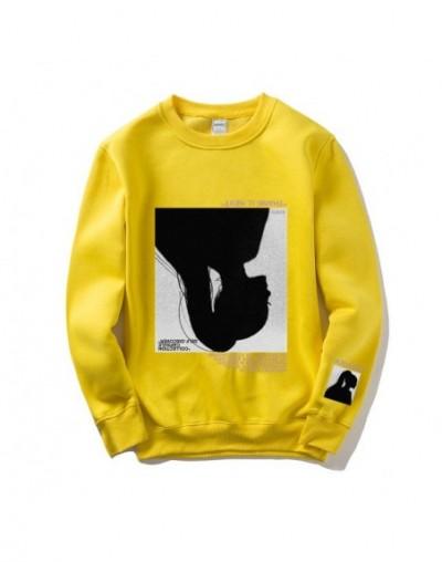 Men Women Sweatshirt Cotton Casual Tracksuit Printed Man 2019 New Hoodies Popular Streetwear Coat - Yellow - 433096306469-11