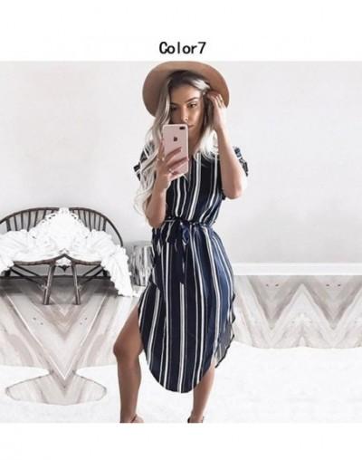 2018 Summer Print Dresses Women O-neck Short-sleeved Tunic Beach Dress Ladies Sexy Elegant Bandage Evening Party Dress Vesti...