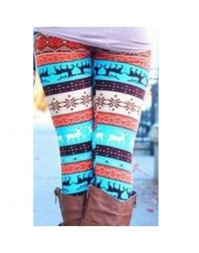 Christmas Snow Elk Leggings Women Lady Casual Elasticity Skinny Printed Stretchy Pants Leggings Plus Size 4XL - 11 - 4P30595...