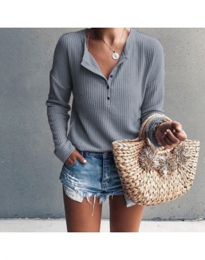 Pull Femme 2019 Women Sweaters and Pullover Spring Long Sleeve Knitted Sweater Loose V Neck Sweater Female Jumper Pullover T...
