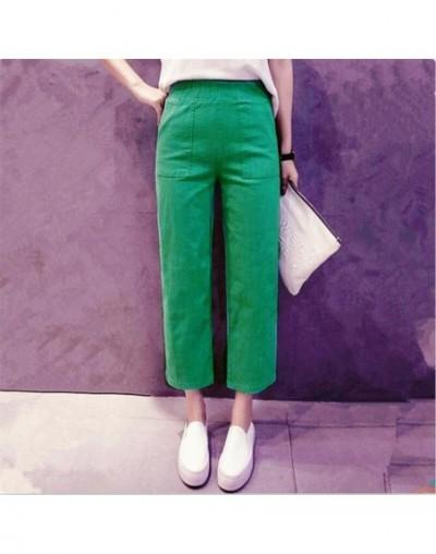 Summer Pants female All-match Loose Elastic Waist Plus size Calf-Length Pants Wide leg pants Women casual pants M-5XL 6XL 7X...