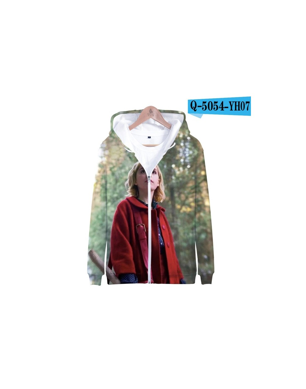 sabrina 3D Print Popular Zipper high Street hip hop Hipster comfortable Hooded Sweatshirt Casual Street Fashion Hoodies Zipp...