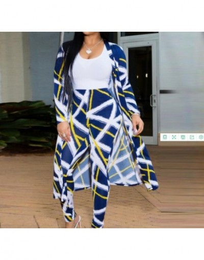 Summer Autumn 2 Piece Set Women Cardigan Long Trench Tops And Bodycon Pant Suit Casual Clothes Boho Sexy Two Piece Outfits 2...