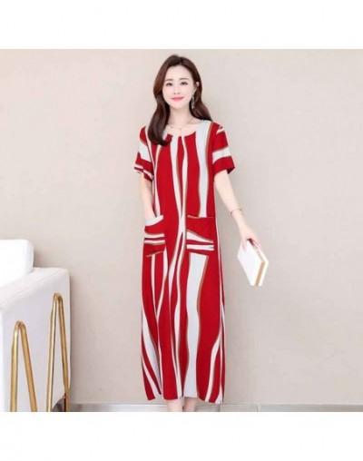 Women summer dresses casual print vintage long dress loose plus size maxi dress robe vestidos - Color 14 - 4V3093959706-14