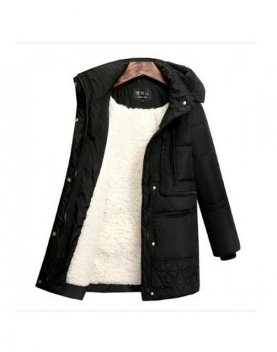 2019 Spring Winter Women's Jackets Cotton Coat Padded Long Slim Hooded Parkas Female Outwear Warm Jacket Wool Clothing - Bla...